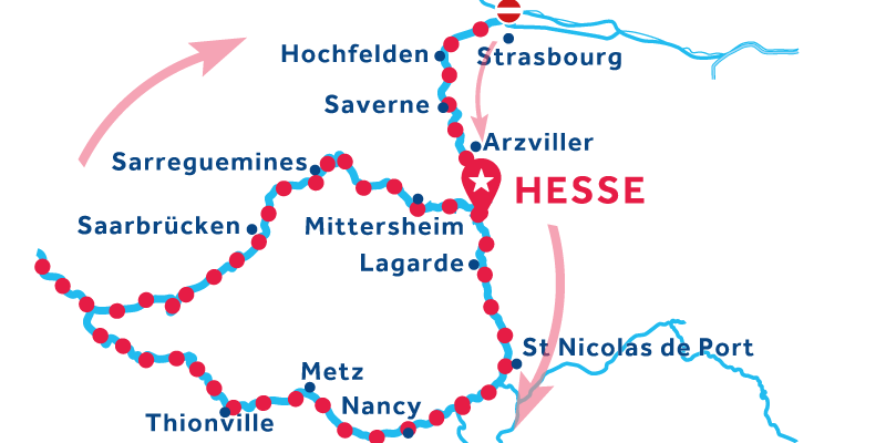 Hesse return via Saarbrucken & Metz