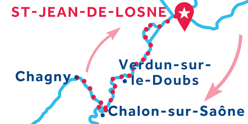 Saint-Jean-de-Losne RETURN via Chagny