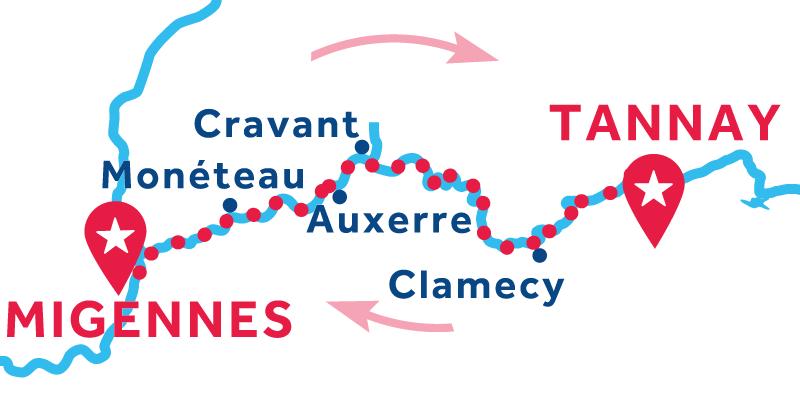 Migennes RETURN via Tannay