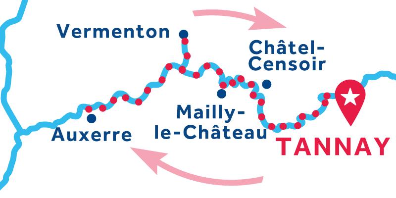 Tannay RETURN via Auxerre