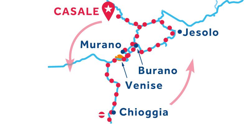 Casale ALLER RETOUR via Venise