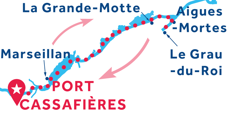 Port Cassafières RETURN via Aigues-Mortes