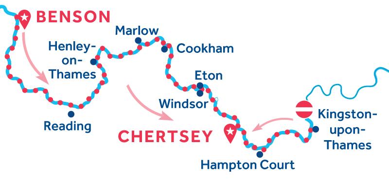 Benson à Chertsey via Kingston-upon-Thames