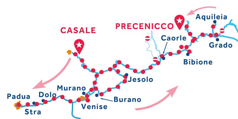 Casale Precenicco via Venise et Chioggia