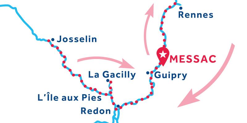 Messac RETURN via Rennes & Josselin