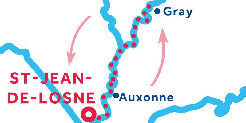 Saint-Jean-de-Losne RETURN via Gray