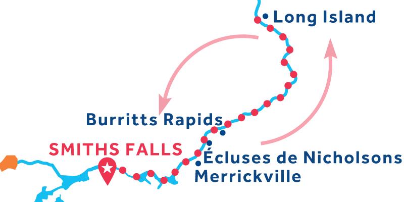 Smiths Falls RETURN via Long Island