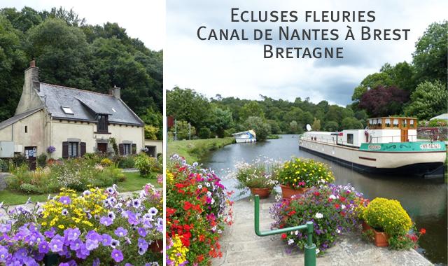 Les écluses fleuries de Bretagne