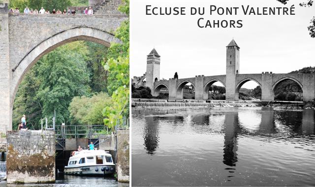 L'écluse du Pont Valentré, Cahors