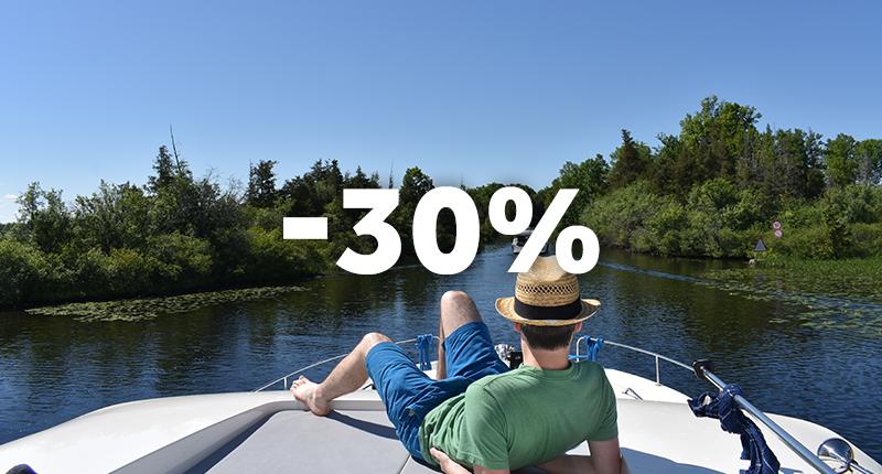 -30% - départs en Septembre