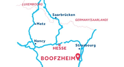Carte de situation de la base de Boofzheim