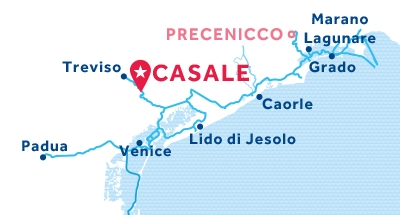 Carte de situation de la base de Casale