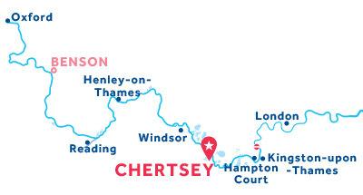 Carte de situation de la base de Chertsey