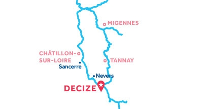 Carte de situation de la base de Decize