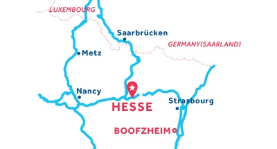 Carte de situation de la base de Hesse