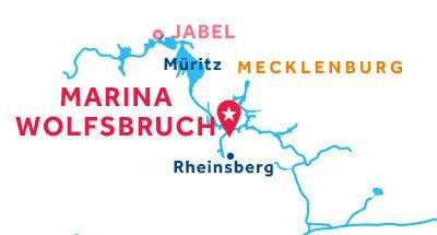 Carte de situation de la base de Marina Wolfsbruch