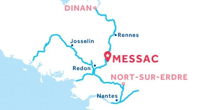 Carte de situation de la base de Messac