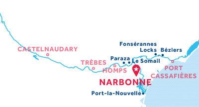 Carte de situation de la base de Narbonne