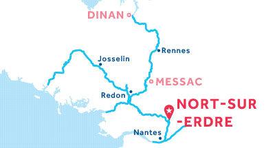 Carte de situation de la base de Nort-sur-Erdre