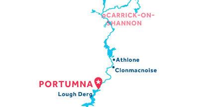 Kaart van de basis in Portumna