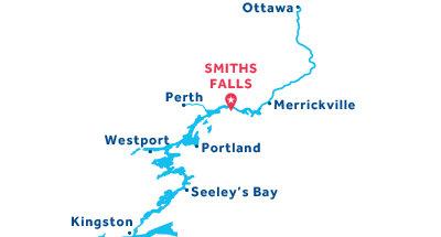 Carte de situation de la base de Smiths Falls