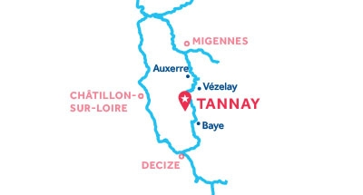Carte de situation de la base de Tannay