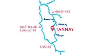 Carte de situation de la base de Tannay