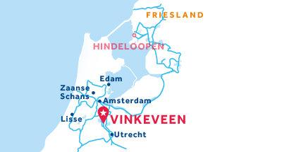Carte de situation de la base de Vinkeveen