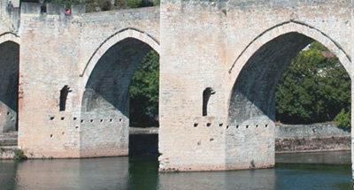 Les arches du Pont Valentré dans le Lot