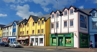 Maisons colorées à Carrick-on-Shannon