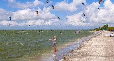 Windsurf sur la plage de Workum