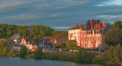 Maisons avec panorama sur le canal