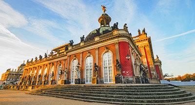 Le Palais Sanssouci à Postdam