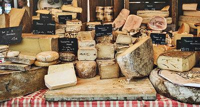 Délicieux fromages en France