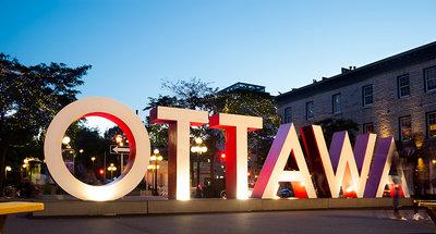 Signe emblématique d'Ottawa au coeur de la ville