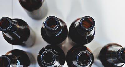 Bouteilles de bière vides