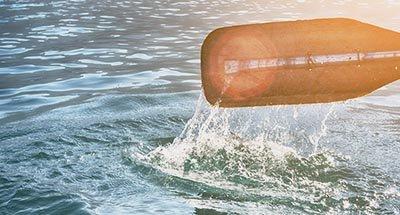 Rame sur l'eau
