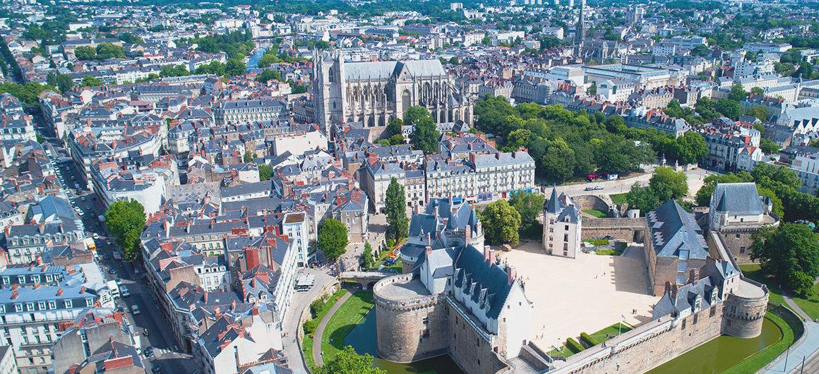 Vue aérienne de Nantes, Bretagne