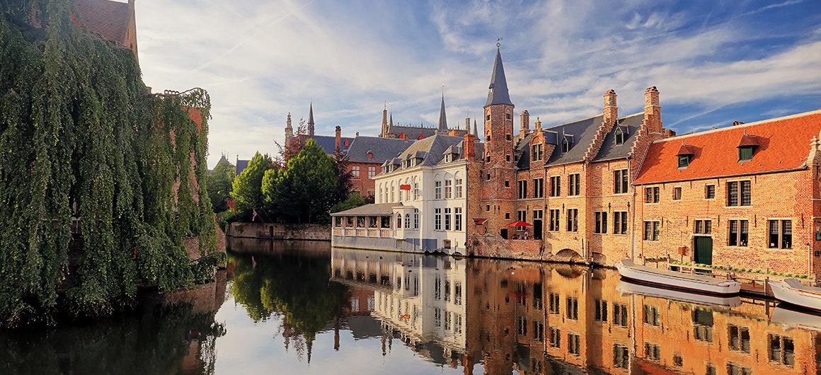La charmante ville de Bruges, Belgique