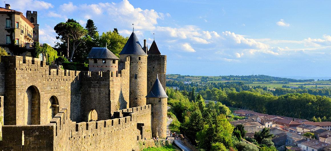 Vue sur Carcassonne, Canal du Midi