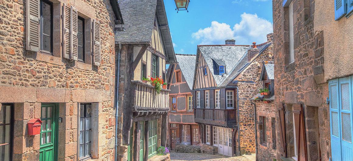 Rues de Dinan, Bretagne