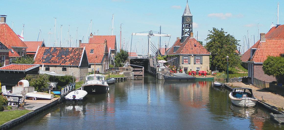 Écluse à Hindeloopen, Pays-Bas