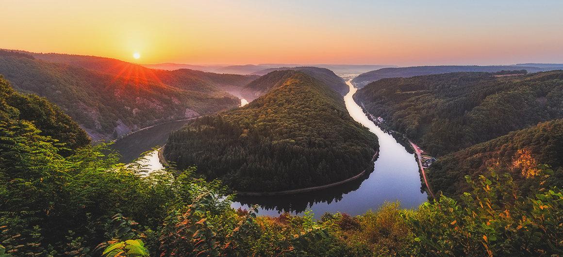Les méandres de la rivière Sarre