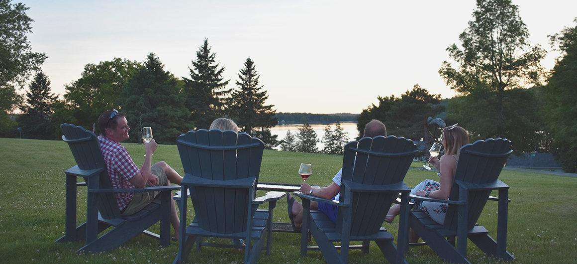 Dégustation de vin canadien