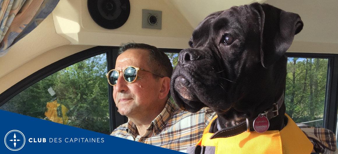 Capitaine Rafael sur le Canal du Midi