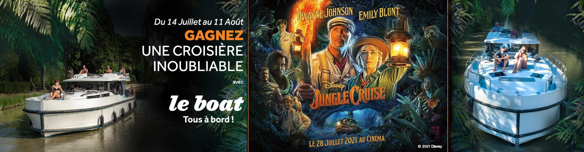 A l'occasion de la sortie de Jungle Cruise, le nouveau film événement des Studios Disney, le 28 juillet prochain au cinéma, Le Boat vous offre une croisière inoubliable.