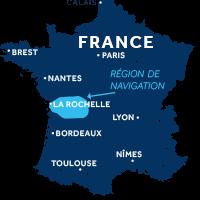 Zone de navigation en Charente en France