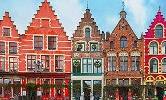 Maisons colorées à Bruges